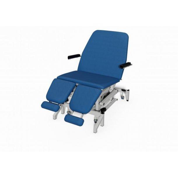 Tilting Baratric Podiatry Chair, 320 Kg løfte kapacitet, Trendelenburg 20 grader.